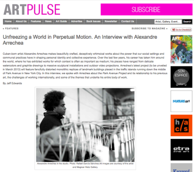 Alexandre Arrechea Artpulse interview
